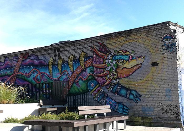 В районе Теллескиви множество современных мастерских и модных кафе