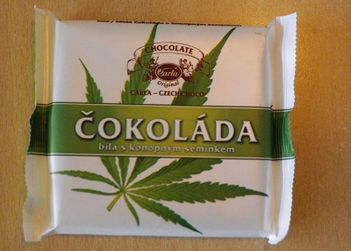 В Праге легко можно купить шоколад с коноплей