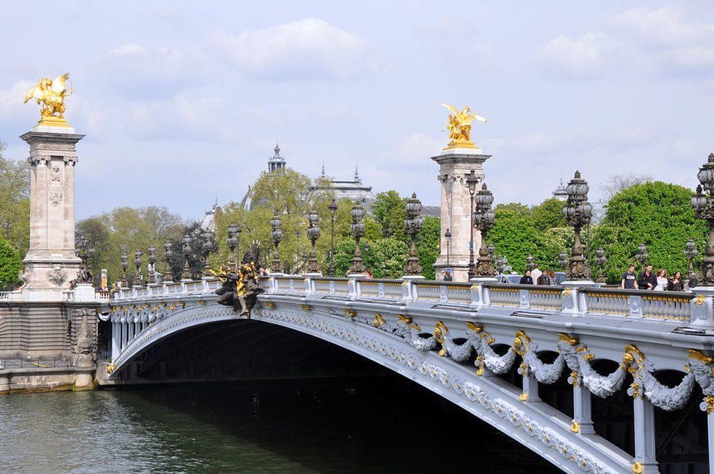 Париж Мост Александра III