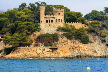 Ллорет де Мар крепость с моря