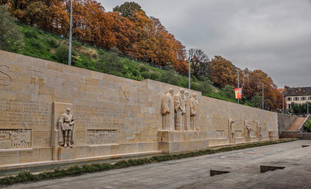 Женева стена реформации