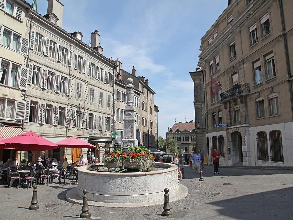 площадь Бург-де-Фур Женева